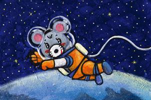 ネズミ 干支シリーズ 子 童画 イラスト 徳治昭